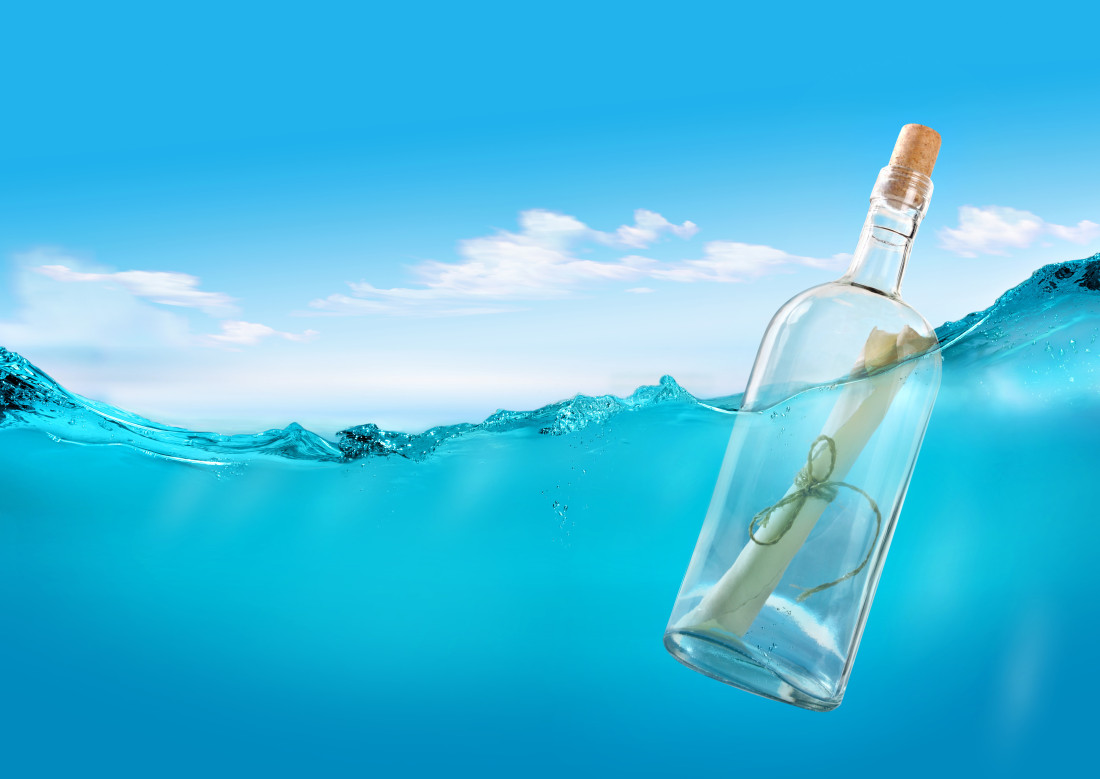 a-bottle-in-the-ocean